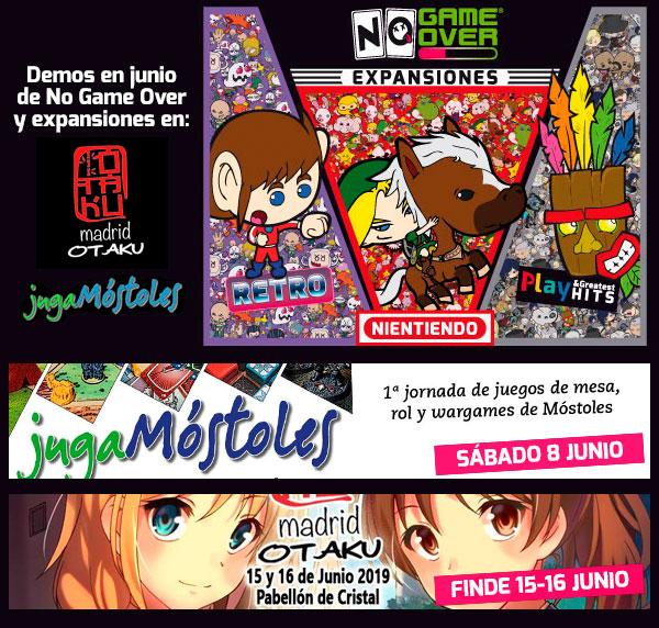 Madrid Otaku 2019 y JugaMóstoles. Eventos frikis Madrid Junio