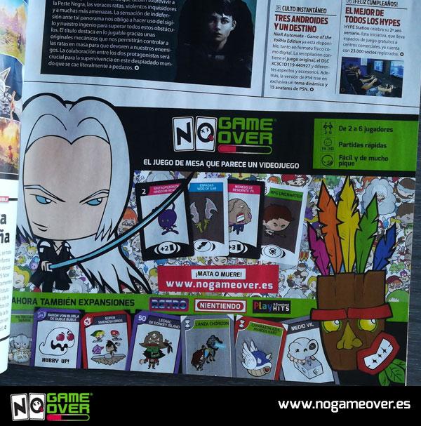 Publi de No Game Over en la revista de videojuegos Playmanía