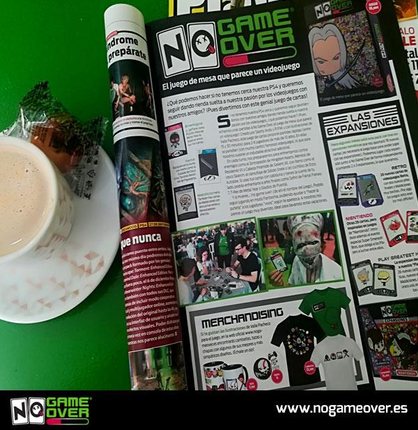 Reportaje de No Game Over en la revista de videojuegos Playmanía