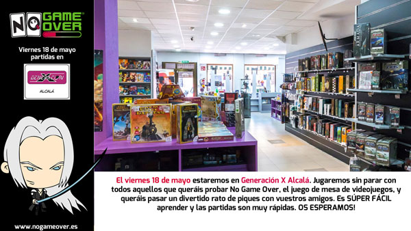 tienda-friki-alcala-juegos-mesa-gen-x-demos-no-game-over-mayo-2018