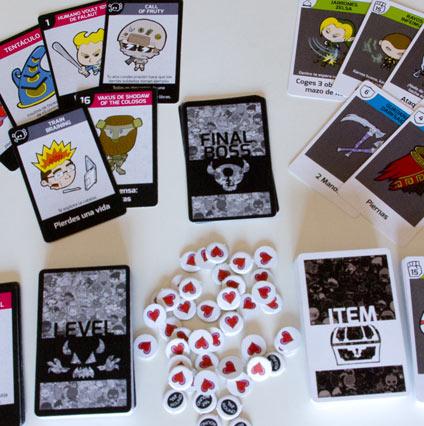 juego de mesa de videojuegos No Game Over componentes 1a edición