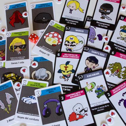 juego de mesa de videojuegos No Game Over cartas 1a edición